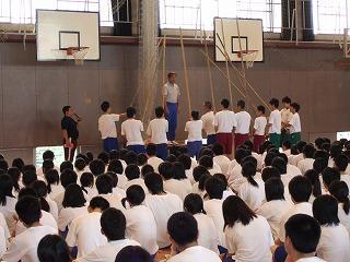 選手宣誓の練習