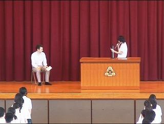 生徒代表による挨拶