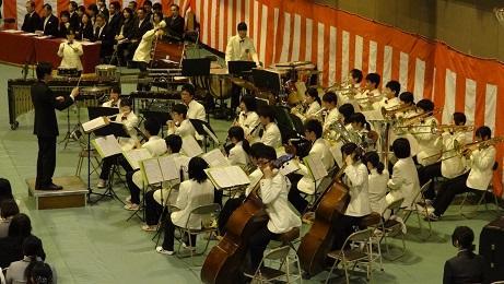 音楽部 校歌演奏